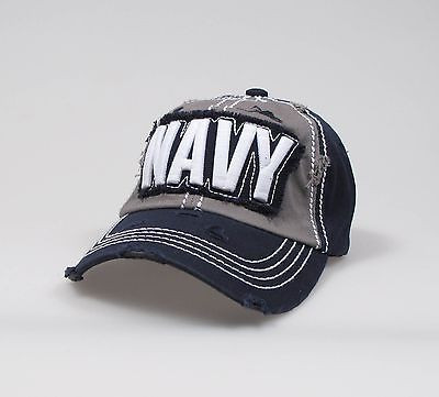 "U.S.Navy Adjustable ""One Size Fits Most"" Hat - Tathered Look"