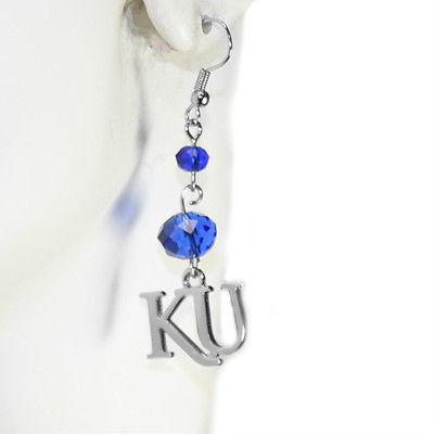 Kansas Jayhawks Beaded Earrings - ER4640230 - NCAA Licensed