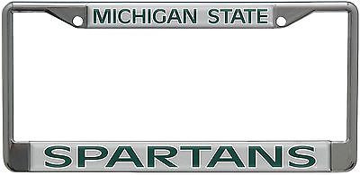 Michigan State Spartans Metal License Plate Frame with a Raised Dome Design