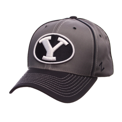 NCAA Brigham Young Cougars Gray Wrath Adjustable Hat