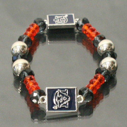 Auburn Tigers Beaded Stretch Bracelet - NCAA Licensed