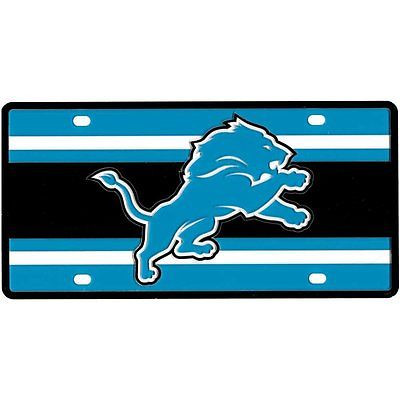 Detroit Lions Full Color Super Stripe Inlay License Plate