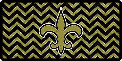 NFL New Orleans Saints Chevron Style Auto License Plate