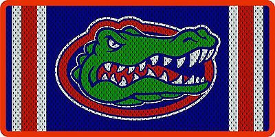 Florida Gators Inlaid Acrylic License Plate with Jersey Background