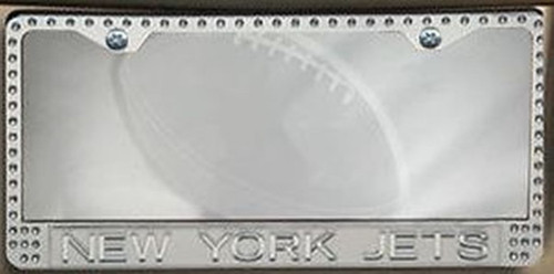 NFL New York Jets Bling Metal License Plate Frame