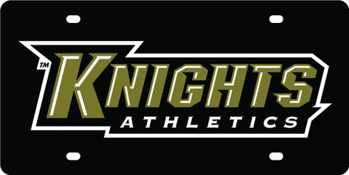NCAA UCF Knights Athletics Laser Cut Car License Plate