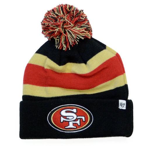 NFL San Francisco 49ers Breakaway Cuff Knit Beanie, Black