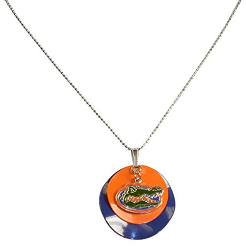 Florida Gators Double Layer Disc Charm Necklace