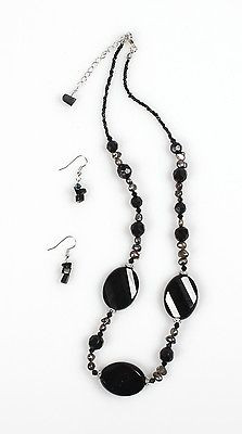 """Chic"" Black Necklace Set"" - NS1112BK"