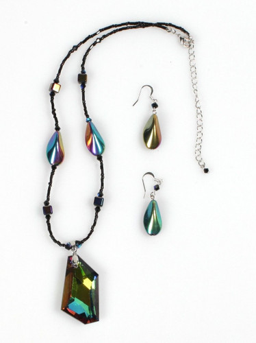 """Bewitching Iridescent"" Necklace Set - NS114MU"