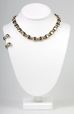 """Boutique Collection"" Clip Earring  Necklace Set- -NS1119G"