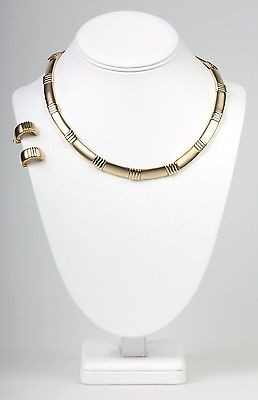 """Boutique Collection"" with Clip Earrings  Necklace Set --NS1127G"