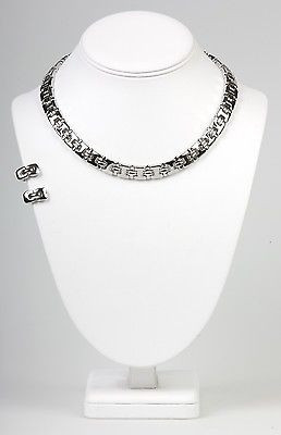 """Boutique Collection"" Clip Earring  Necklace Set-  -NS1128S"