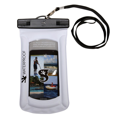 Geckobrands Waterproof Float Phone Case - White