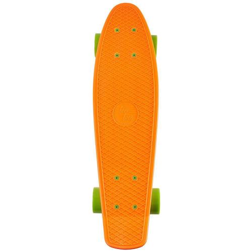 "Quip Mini Cruiser Skateboard - Orange/Lime - 22.5"""