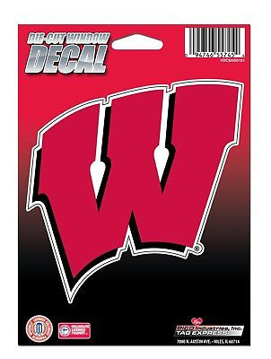 Wisconsin Badgers Medium Die-Cut Window Decal