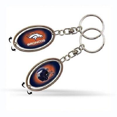 Official NFL Denver Broncos 2 inch Metal Spinner Keychain