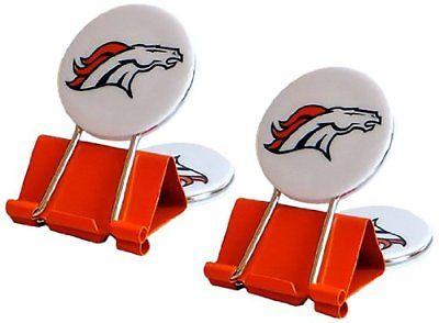 NFL Denver Broncos MyFanClip Multipurpose Clips (Pack of 2)
