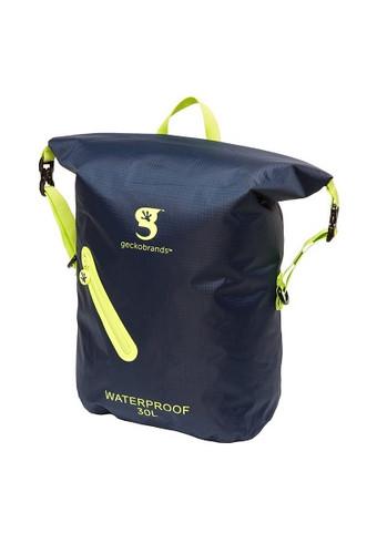 Geckobrands Waterproof Lightweight Backpack - Navy/Bright Green