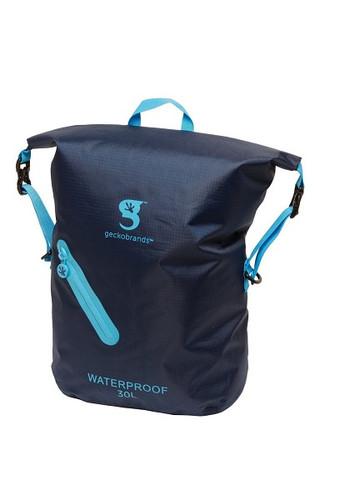 Geckobrands Waterproof Lightweight Backpack - Navy/Light Blue