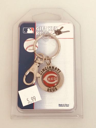 Cincinnati Reds Large Ring Keyring - Clearance