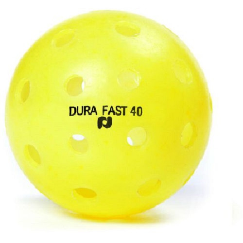DURA Fast 40 Outdoor Pickleballs - Yellow (3-pack)