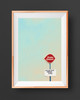 Dairy Queen | Texas Stop Sign | Texas  Art Print