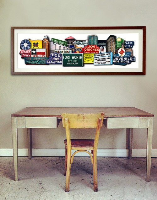 Fort Worth Texas Art | Favorites  Texas Photomontage Print | Carl Walker Crum