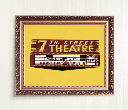 Fort Worth ART  | 7th Street Theater Print | Texas Art