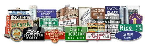 Houston Icons | Favorites 3D on Metal | Carl Walker Crum | Texas Photomontage
