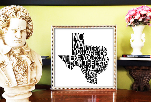 Julian Castro | Quote Print | Texas Shaped | Sort of Cool