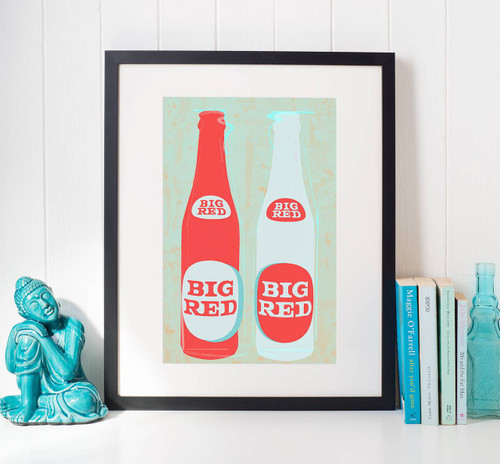 Big Red | Pop Art Print | Wall Decor