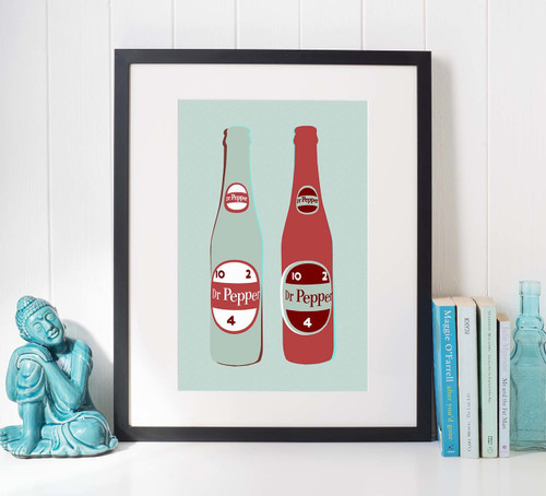 Dr. Pepper Twin | Texas Art Print| Texas Wall Decor