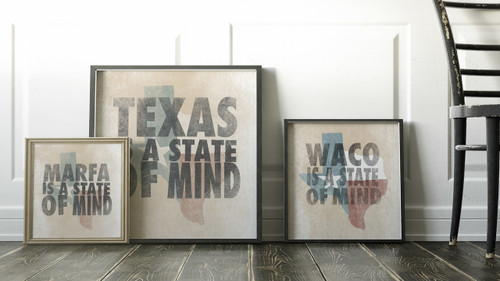 Texas (or other places) Is A State of Mind | Texas Shaped Print