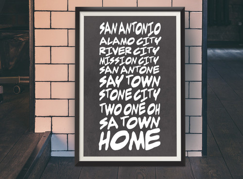 San Antonio Sobriquet |  Texas Art Print