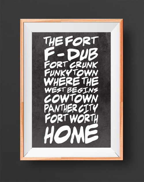 Fort Worth Sobriquet |  Texas Art Print