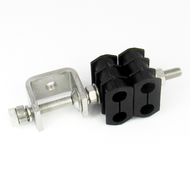 """H43138 304 Stainless Steel  3/8"""" Double Stacked Cable Clamp Centric RF"""
