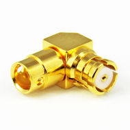 CX4515 SMP/Female Right Angle 40 Ghz Connector for 086 Cable Centric RF