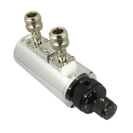 CR27N-50 Dual Rotary Attenuator with Nv Female Connectors. 0-50db in 1 db steps. 0-2.7Ghz.  Accuracy +/-1 db. Insertion Loss 0.8db max. VSWR 1.5max; 2Watts Centric RF