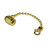 CSM1AC SMA/Male Dust Cap with Chain Gold Finish Centric RF