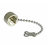 CDT1C TNC/Male Brass Dust Cap with Chain Centric RF