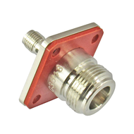 C3643 N/Female to SMA/Female Flange 11 Ghz IP67 Flange Adapter with Gasket on N side Centric RF
