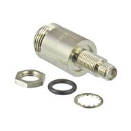 C3608 SMA Female to N Female Bulkhead Adapter 11Ghz VSWR 1.3 Brass Centric RF