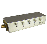 CR25S30P SMA/Female 30 dB Push Button Attenuator Centric RF