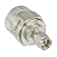C8168 1.85mm Male to N Male Adapter 18ghz VSWR 1.2 Centric RF