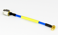 """C574-086-03B Cable SMP /FRA to SMA /M 086 Flexible 18Ghz VSWR 1.35 3"""" Centric RF"""