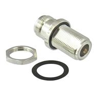 C5605 N Hermetic Bulkhead Adapter 11Ghz VSWR 1.2 1X10-6cc/sec Brass Centric RF