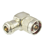 C5538 N/Male to N/Female Brass Right Angle Coaxial Adapter Centric RF