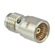 C9871 BMA/Jack to SMA/Female Coaxial Adapter Reverse ViewCentric RF