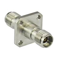 C7069 2.92/Female to 2.92/Female Flange Adapter with Tapped Holes Centric RF